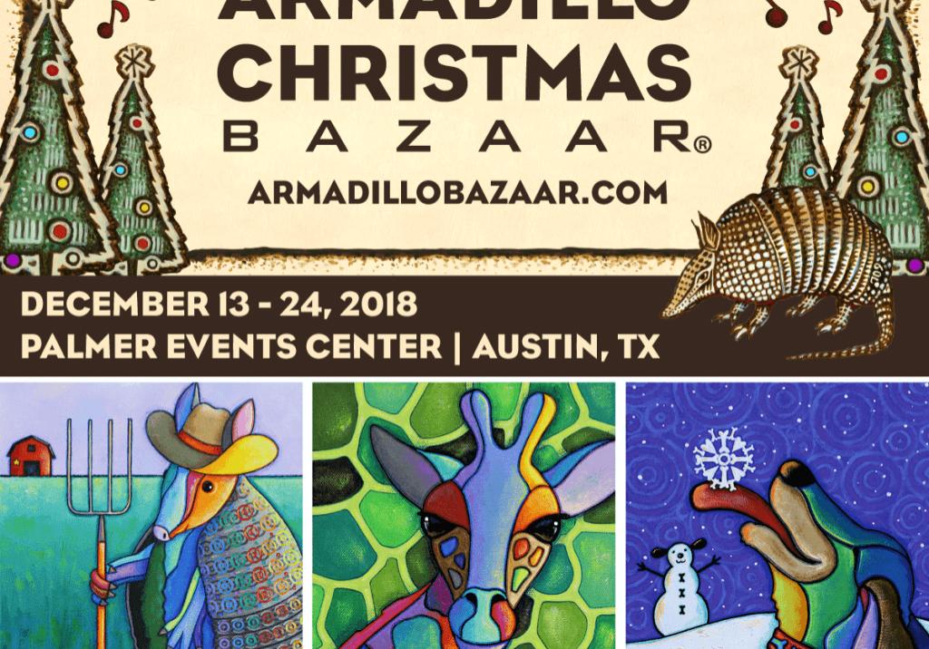 armadillo christmas bazaar poster
